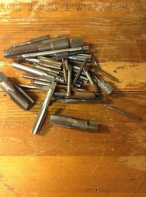 Lot of Over 30  Tap & die screw taps  Machinery Metalworking tooling