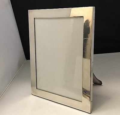 Rare c1895 Gustave KELLER PARIS Heavy Sterling Silver Woodback Picture Frame-647