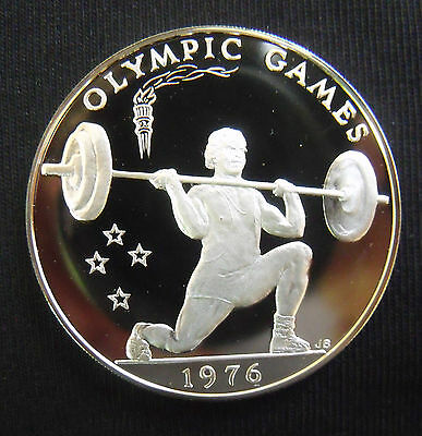 1976 Samoa 1 Tala {SILVER PROOF} Olympic Games.....