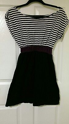 Black and white striped dress size s or 10