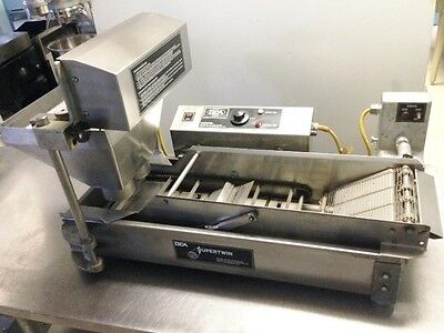 DCA SUPERTWIN Automatic Donut Fryer with Dropper