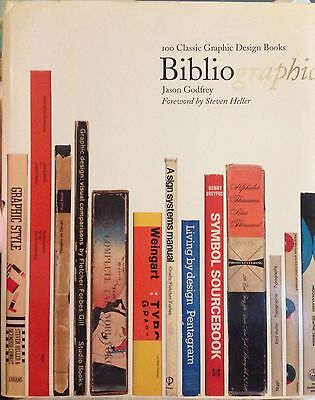 Bibliographic 100 Classic Graphic Design Books by Jason Godfrey Paperback Book