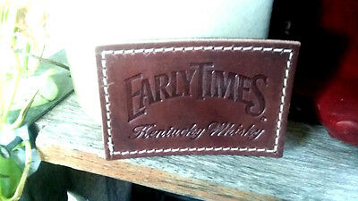 Early Times Kentucky Whiskey Leather Patch