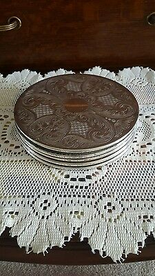 Set of 5 Vintage Silver Plated Placemats
