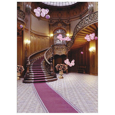 Indoor Staircase Carpet Vinyl Photography Backdrop Photo Background 5X7FT