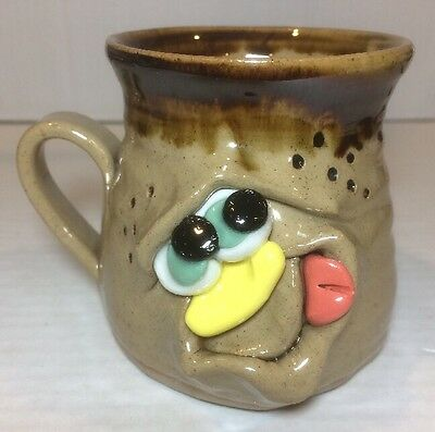 Pretty Ugly Pottery Coffee Cup Mug, Made in Wales, Face, Grotesque
