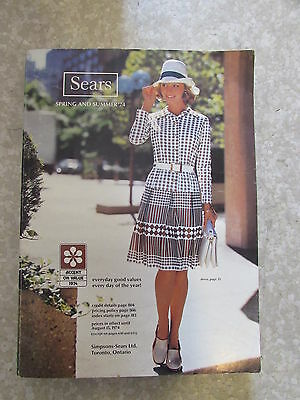 SIMPSON SEARS Spring Summer 1974 Catalog Department Store Canada Book Very Good