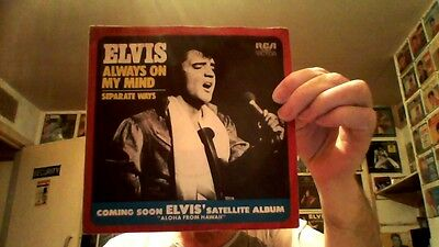 Elvis Presley - Separate Ways / Always on My Mind - German 1972 single + cover