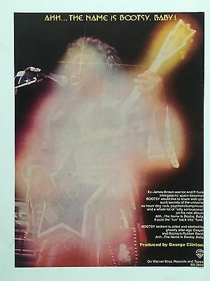 "BOOTSY'S Original 1977 Debut Album 11X14"" Promo Ad ""The Name is Boosty Baby"""