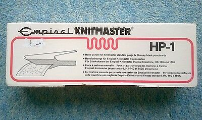 Empisal Knitmaster HP-1 Card Punch Machine Knitting Pattern Hole Punch Punchcard