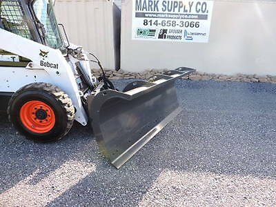 "CID Xtreme Duty 96"" Snow Plow Power Angle Skid Steer Quick Attach Loader Tractor"