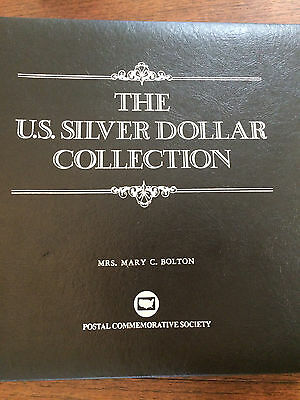 The US Silver Dollar Collection 35 Coin Set Morgan & Peace PCS with Stamps