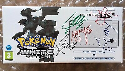 New Sealed Special Ed Pokemon White Nintendo Ds Signed By One Direction 1D !