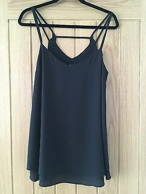 Black New Look Maternity Strapped Vest Top Camisole, Size 12
