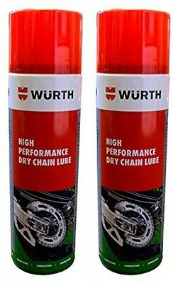 Wurth High Performance Dry Chain Lube 2 X 500ml Double Pack
