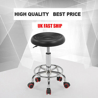 Uk New Beauty Salon Massage Stool Hairdressing Barber Tattoo Manicure Chair -Blk