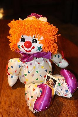 Vintage Dolmax Musical Clown Doll Made in Taiwan Dolmax Canada Wind Up Movement