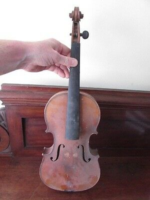 ANTIQUE VIOLIN. 36 cm. no label, needs attention