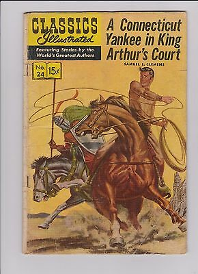 Classics Illustrated #24  (Connecticut Yankee In King Arthur's Court)