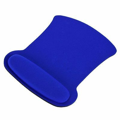 Practical Wrist Rest Support Mouse Mat Gaming Mice Pad for PC Laptop Blue