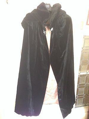 Antique vintage 1920's art deco flapper silk velvet opera cape