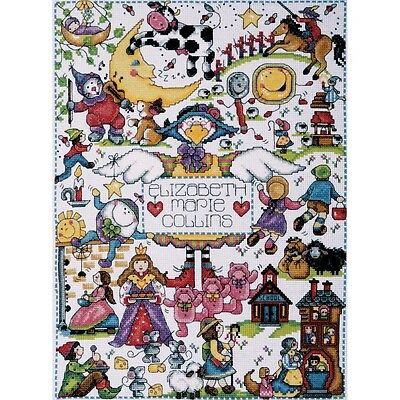 Nursery Rhymes Counted Cross Stitch Kit-28cm x 38cm 14 Count. Brand New