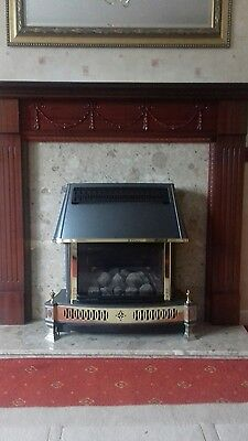 Mahogany Fire Surround And Marble