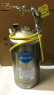 Bradley Pressurized Portable Eye and Face Wash Station with Drench Hose