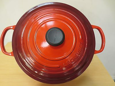 New Le Creuset Signature Cherry 13.25 Qt Round French Oven #ls2501-3467