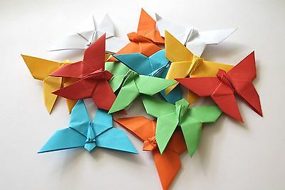 100 X Handmade Origami Butterfly - Choose Your Colour