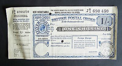 1 Shilling British George V Silver Jubilee Unused Postal Order - May I935