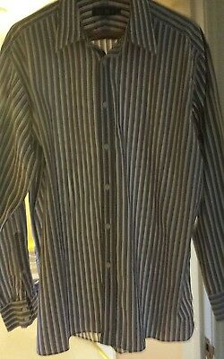 M&S mens stiped shirt size 17.5