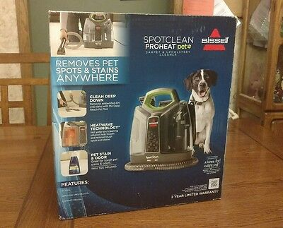 BISSELL SpotClean ProHeat Portable Spot Cleaner NEW Model Clean Carpet Pet Hair