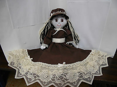 Hand made rag doll, 15 inches