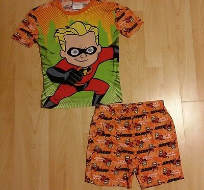 Dash Incredibles Short Sleeve Top with Shorts Disney Store Pajamas Boys Size 12