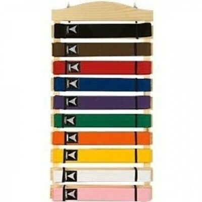Ten Level Martial Arts Karate Belt Display. Huge Saving