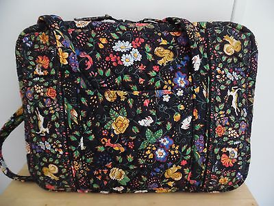 "VERA BRADLEY ""Tavern on Green"" Quilted Laptop Tablet Carrying Brief Case,  USA"