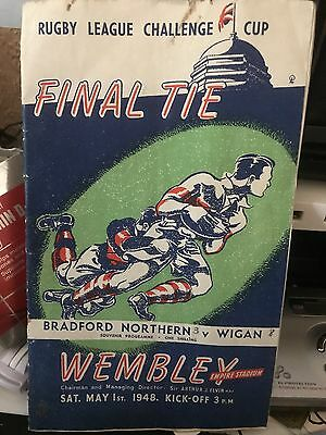 Rugby League Challenge Cup Final Programme 1948 - Bradford Northern v Wigan