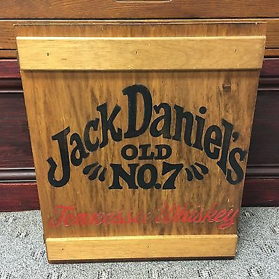 Jack Daniels Old No.7 Tennessee Whiskey Wood Display Case Shadow Box