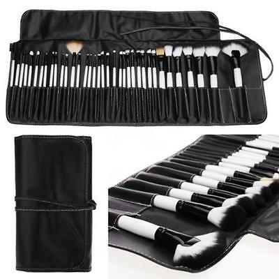 Professional 36PCS Soft Cosmetic Eyebrow Shadow Makeup Brush Set Kit + Pouch Bag
