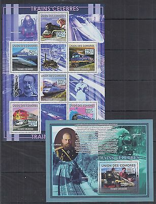 H332 Comoros - MNH - Transport - Trains - 2280/85.498