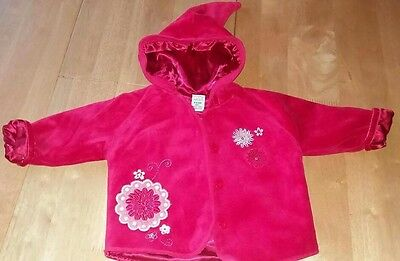 Baby Girl's Fully Lined Hooded Coat Adams 3-6 Months
