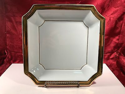 Andrea by Sadek Square Decorative Gold Trimmed Plate Made in Japan #7654