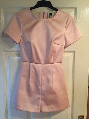 Topshop Satin Pink Structured Playsuit SIZE 6