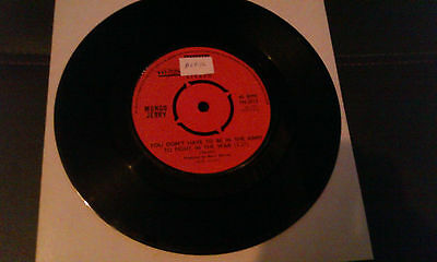 """MUNGO JERRY - YOU DON'T HAVE TO BE IN THE ARMY- 7"""" single"""