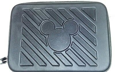 "Disney Parks Best Mickey Mouse Laptop hard Case Sleeve Black Embossed 16"" x 12"""