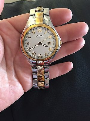 Mans Rotary Watch With Gold/silver Strap