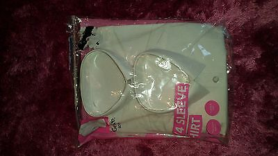 Girls 2 Pack White 3/4 Sleeve School Shirts, Size 8-9 Years, New