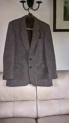 "mens dunn & co harris tweed jacket double vents made in britain,size 40"" chest ."