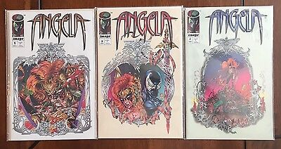 """1994 Image Comics """"Angela"""",#1 to #3, lot of 3 complete series, NM, BX20."""